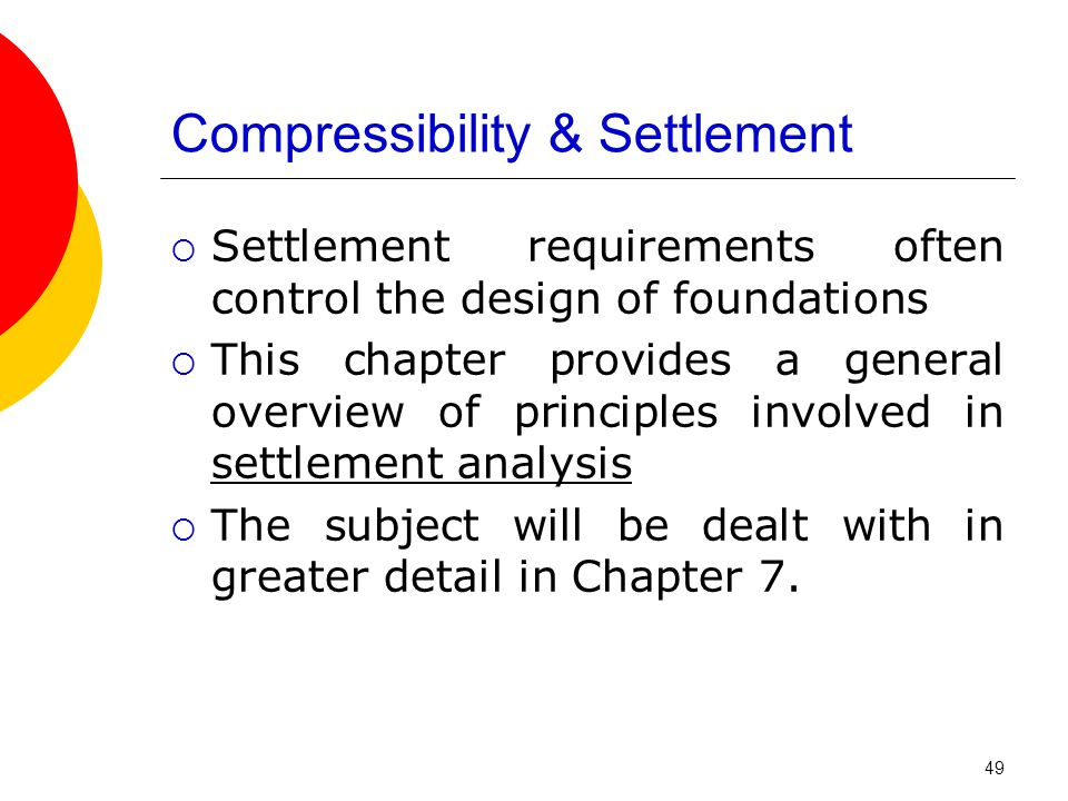 Compressibility & Settlement