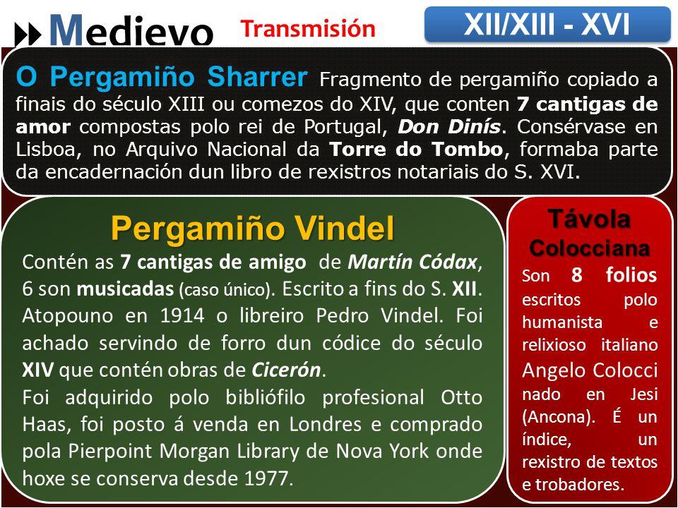 Pergamiños Medievo Pergamiño Vindel XII/XIII - XVI