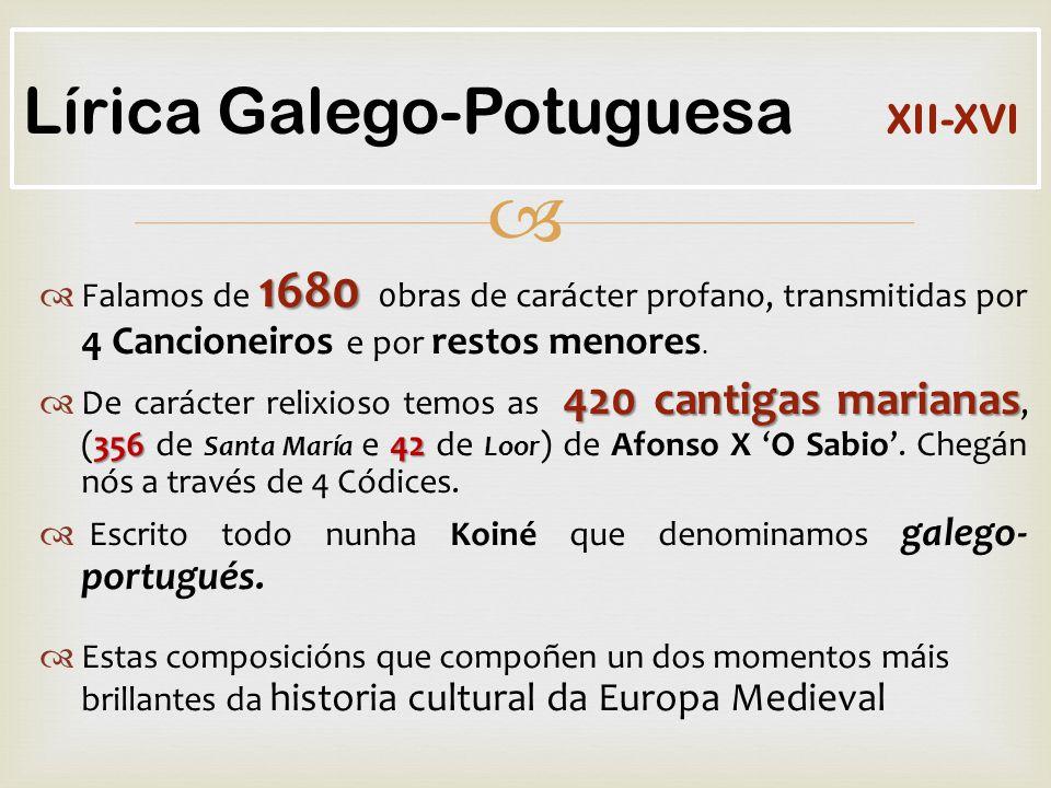 Lírica Galego-Potuguesa XII-XVI