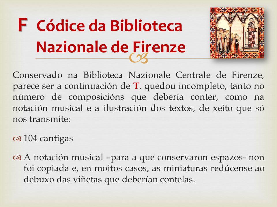 F Códice da Biblioteca Nazionale de Firenze