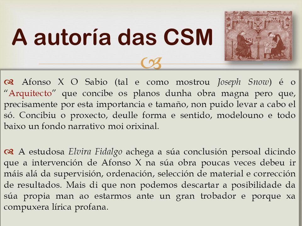 A autoría das CSM
