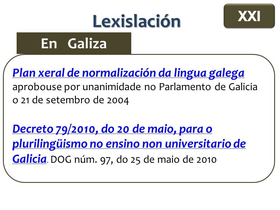 Lexislación En Galiza XXI