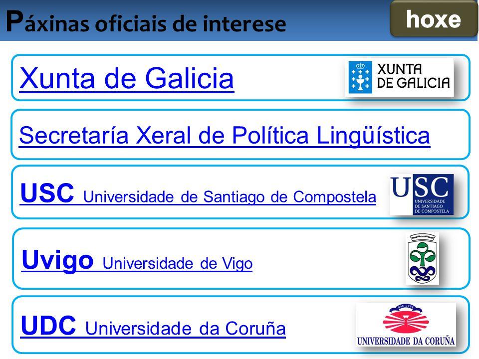 Páxinas oficiais de interese