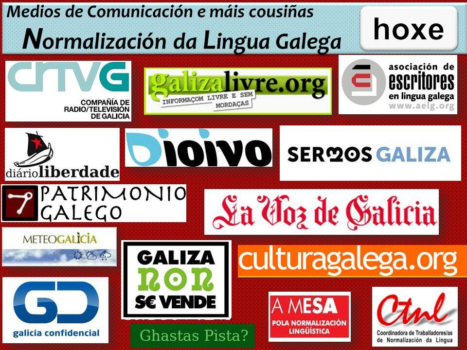 Medios de Comunicación e máis cousiñas Normalización da Lingua Galega