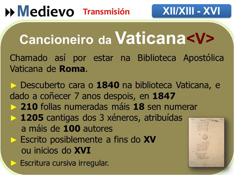 Cancioneiro da Vaticana<V>