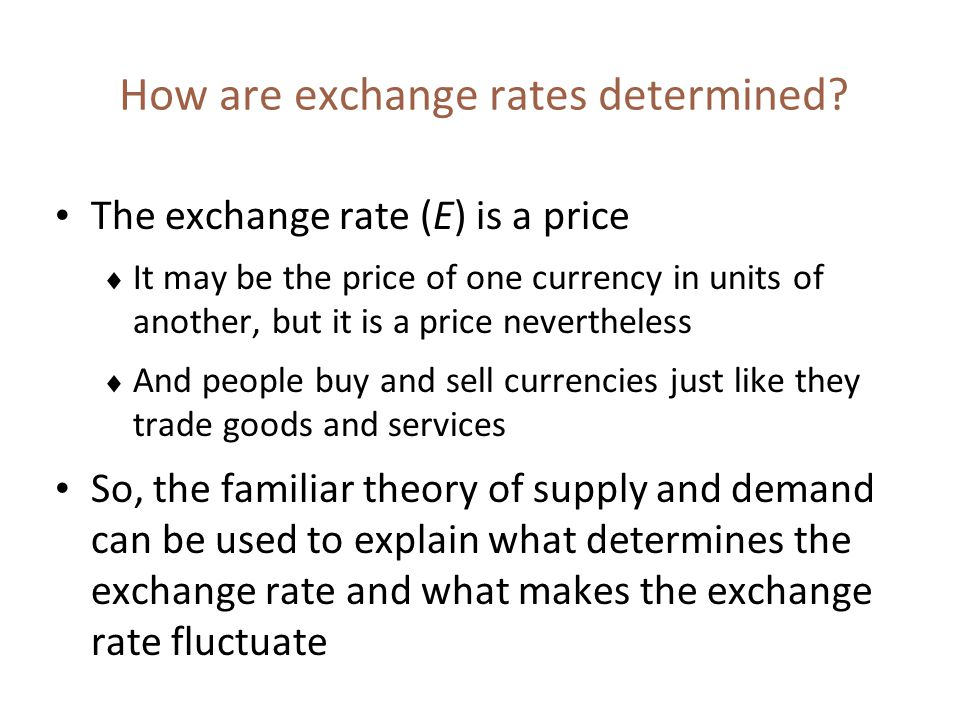 How are exchange rates determined