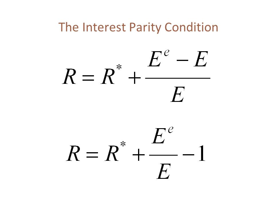 The Interest Parity Condition