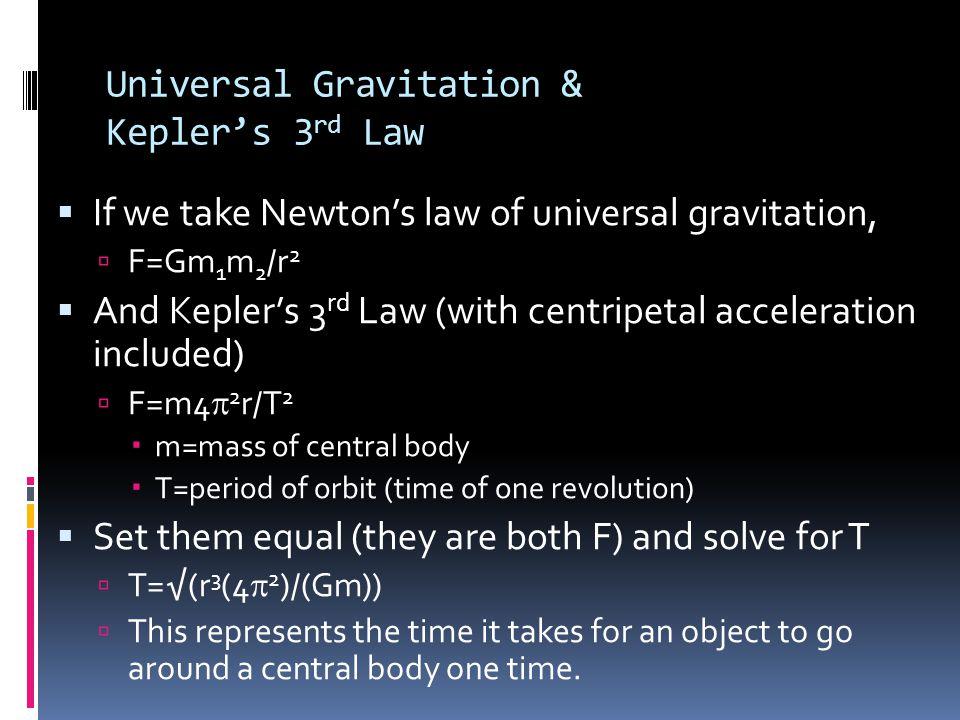 Universal Gravitation & Kepler's 3rd Law