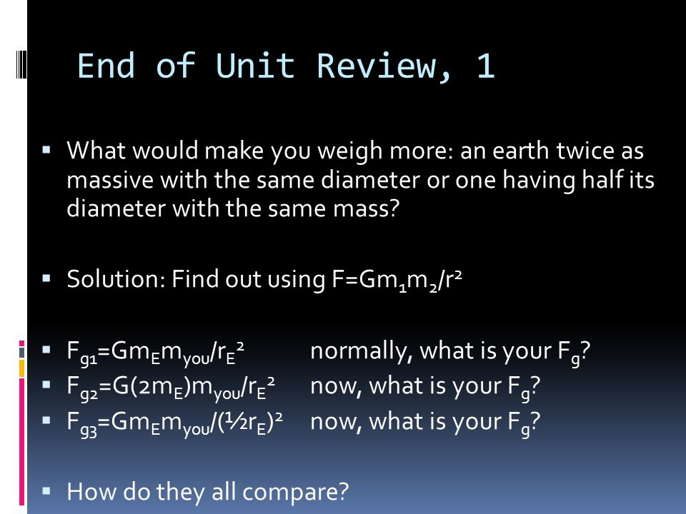 End of Unit Review, 1