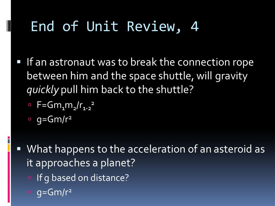 End of Unit Review, 4