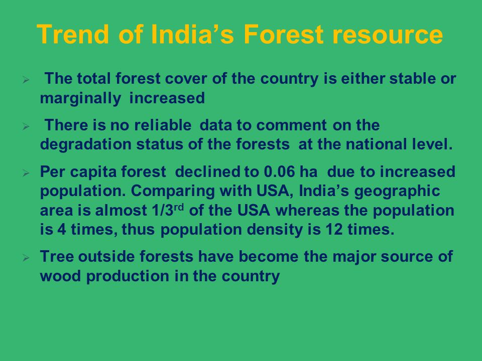 Trend of India's Forest resource