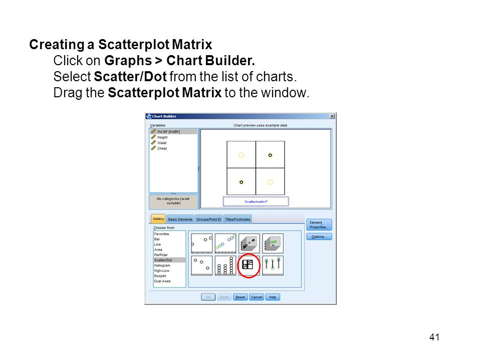 Creating a Scatterplot Matrix