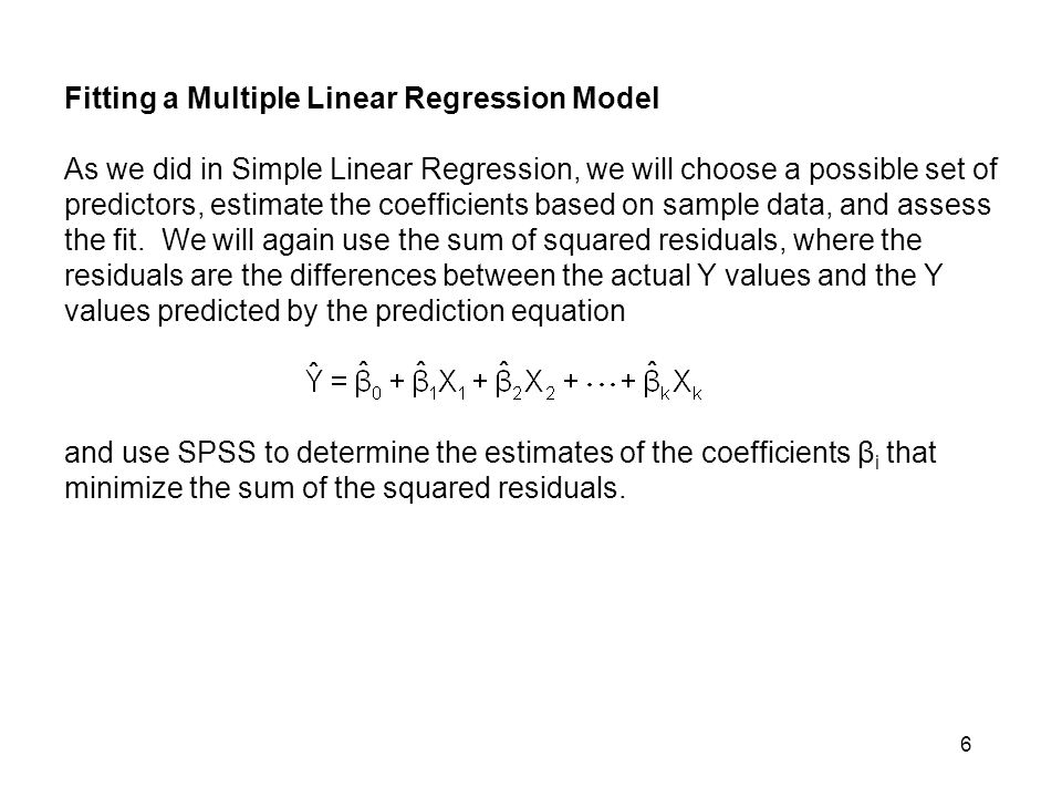 Fitting a Multiple Linear Regression Model