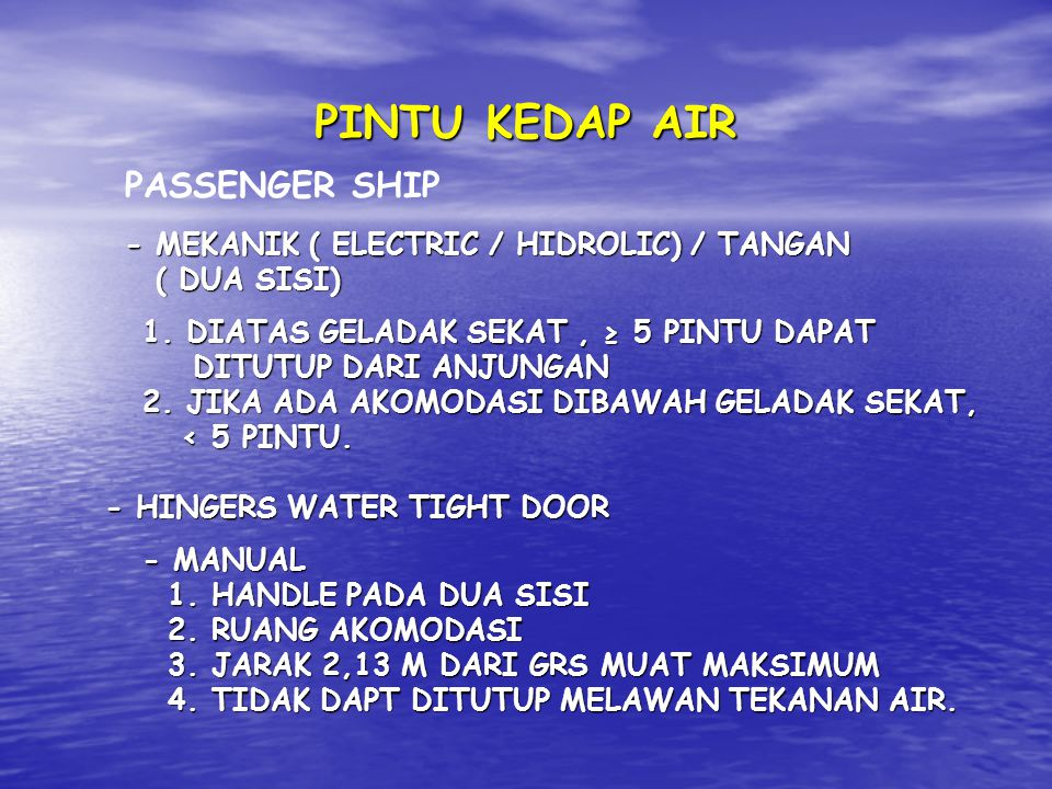 PINTU KEDAP AIR PASSENGER SHIP