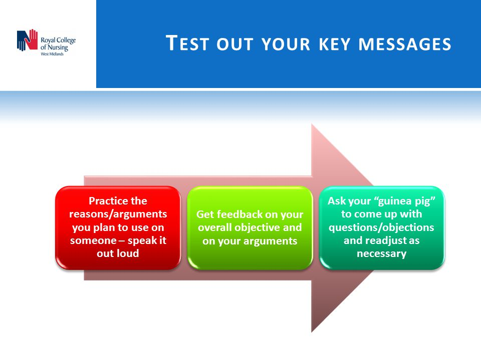 Test out your key messages