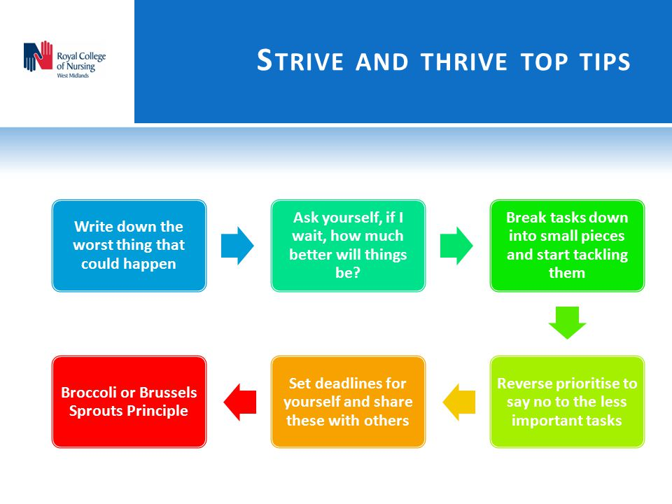 Strive and thrive top tips