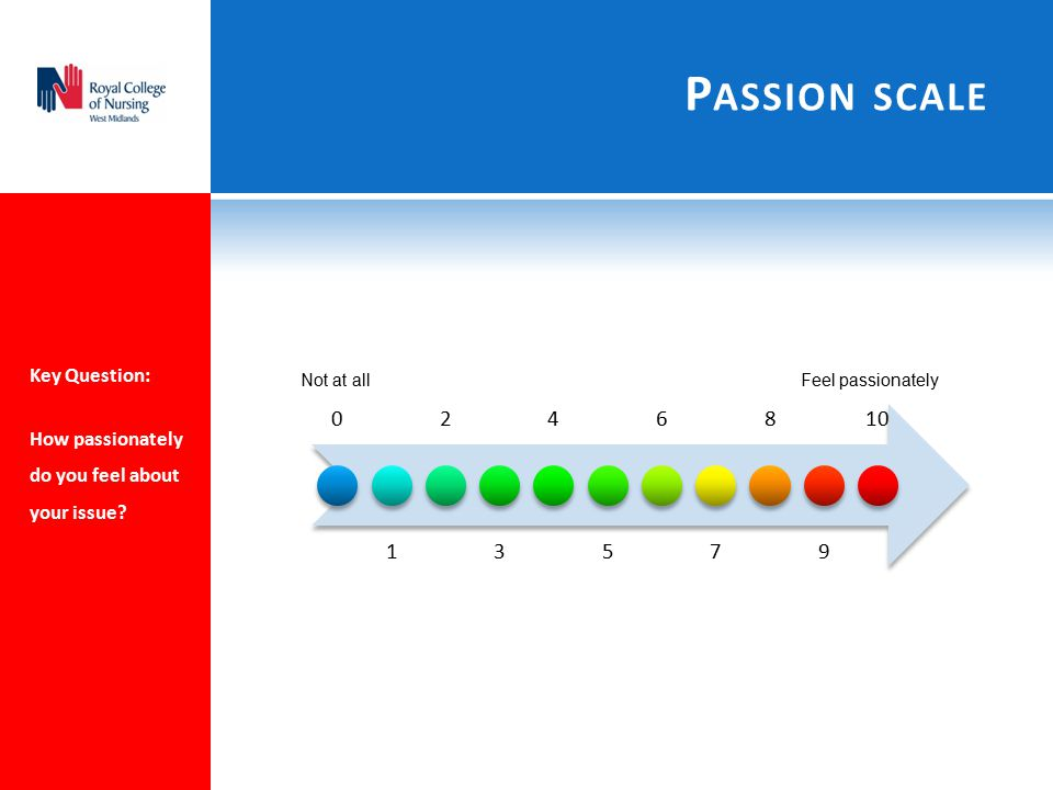Passion scale Key Question: