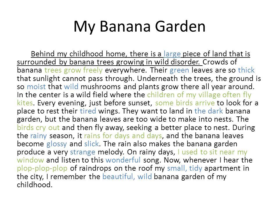 My Banana Garden