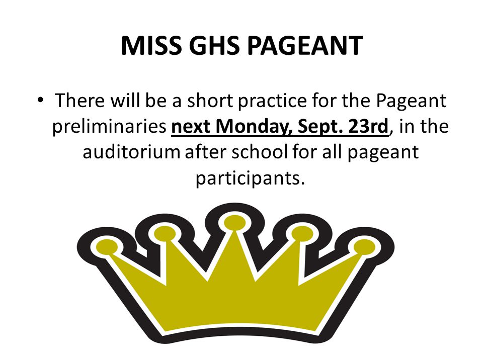 MISS GHS PAGEANT