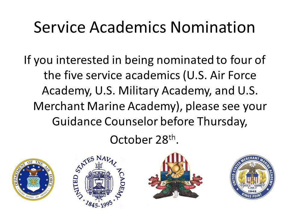 Service Academics Nomination