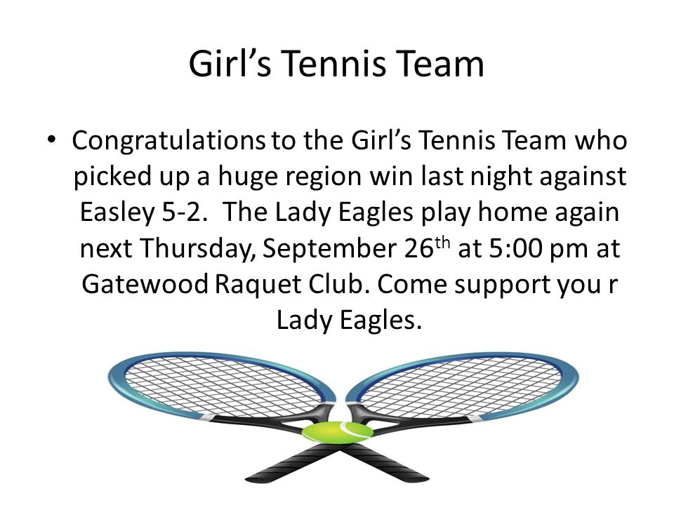 Girl's Tennis Team