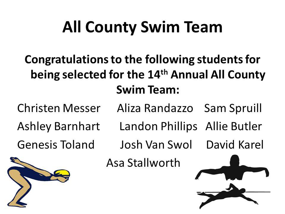 All County Swim Team