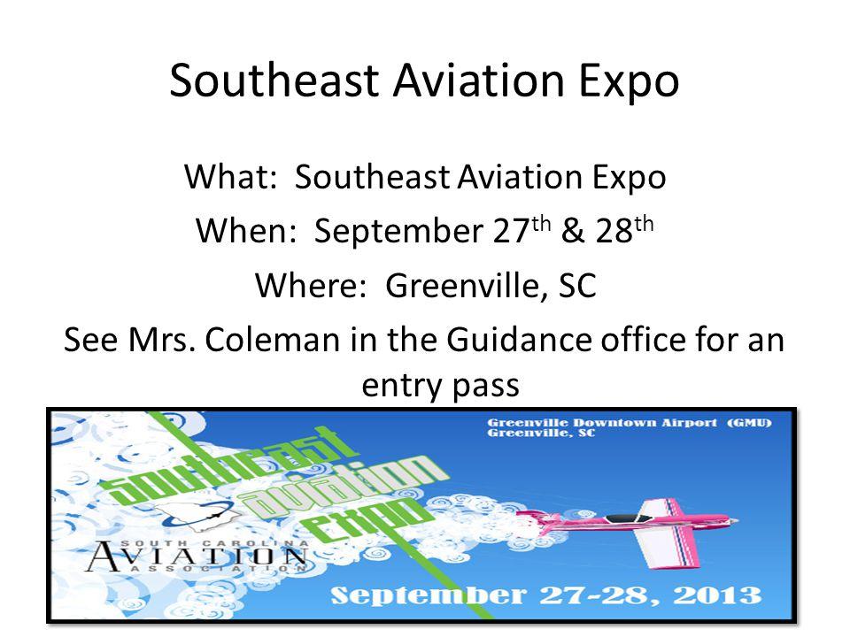 Southeast Aviation Expo