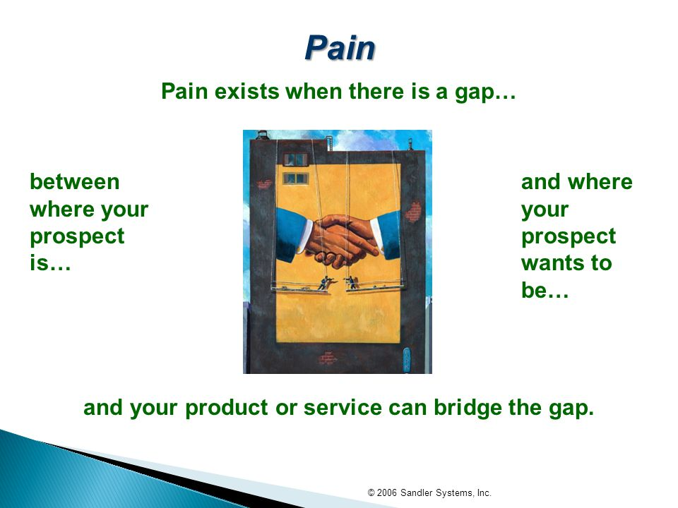 and your product or service can bridge the gap.
