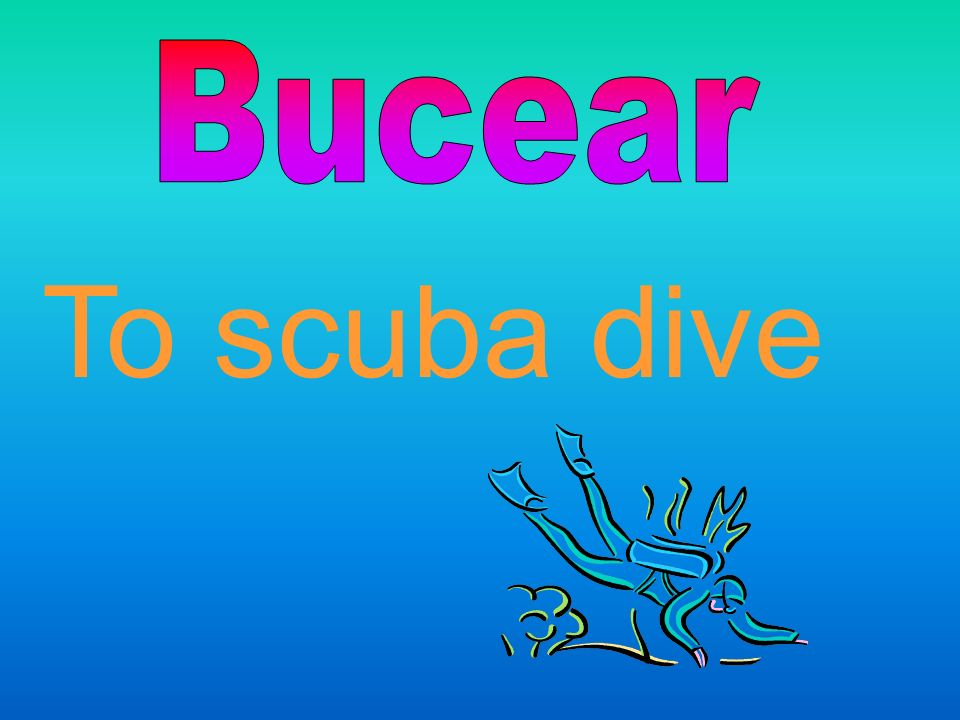 Bucear To scuba dive