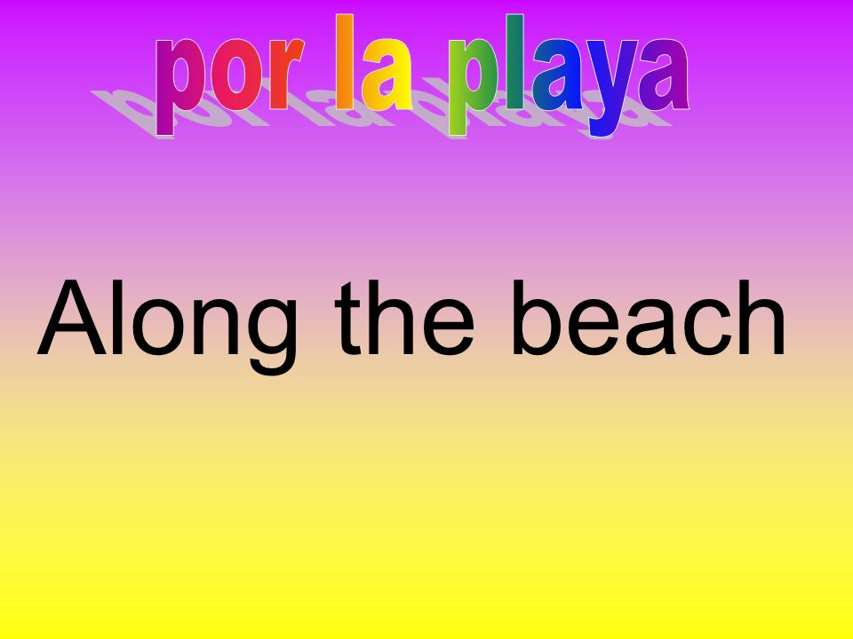 por la playa Along the beach