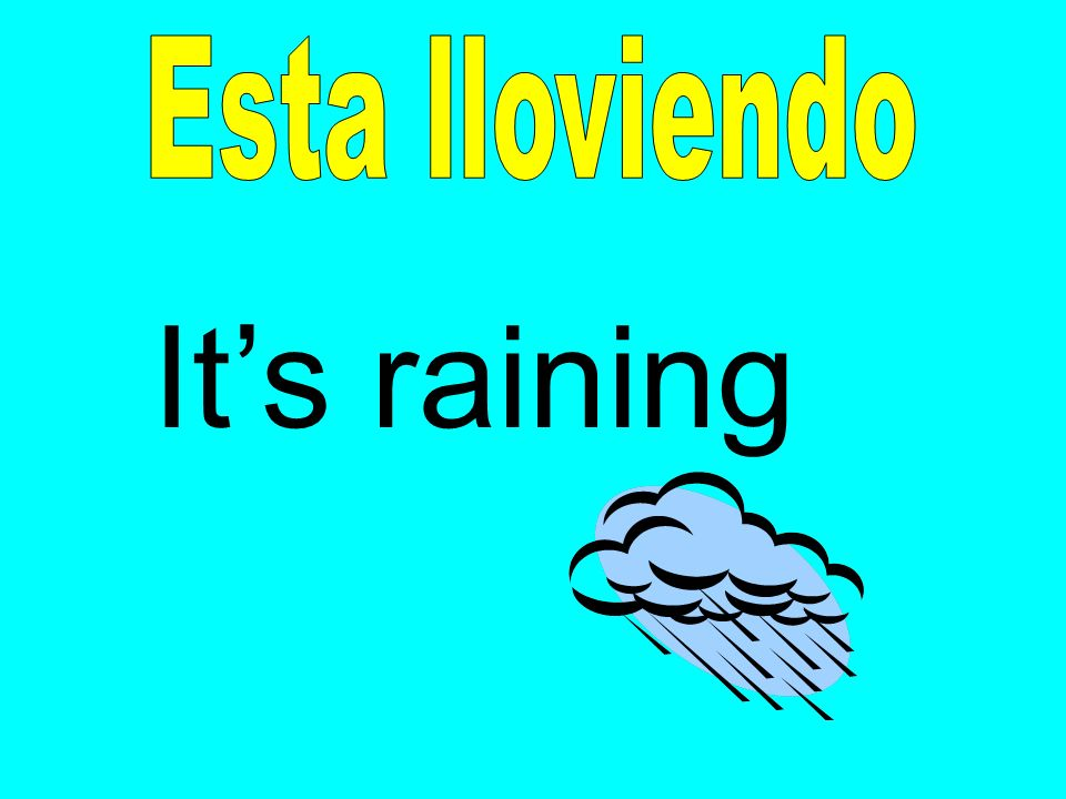 Esta lloviendo It's raining