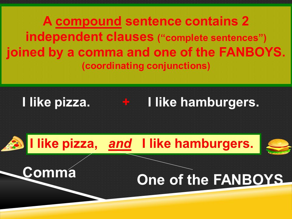 (coordinating conjunctions)
