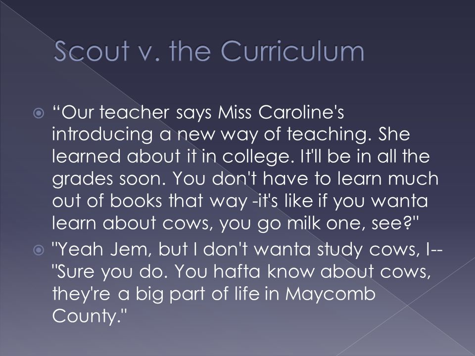 Scout v. the Curriculum