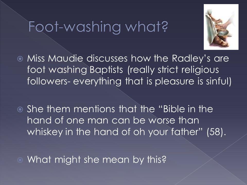 Foot-washing what