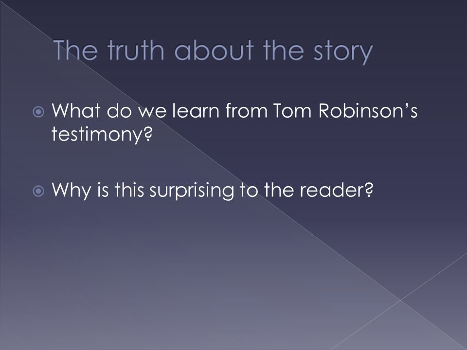 The truth about the story