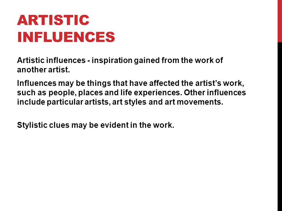 Artistic influences