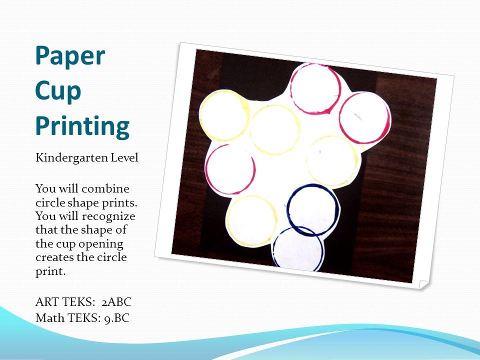 Paper Cup Printing Kindergarten Level