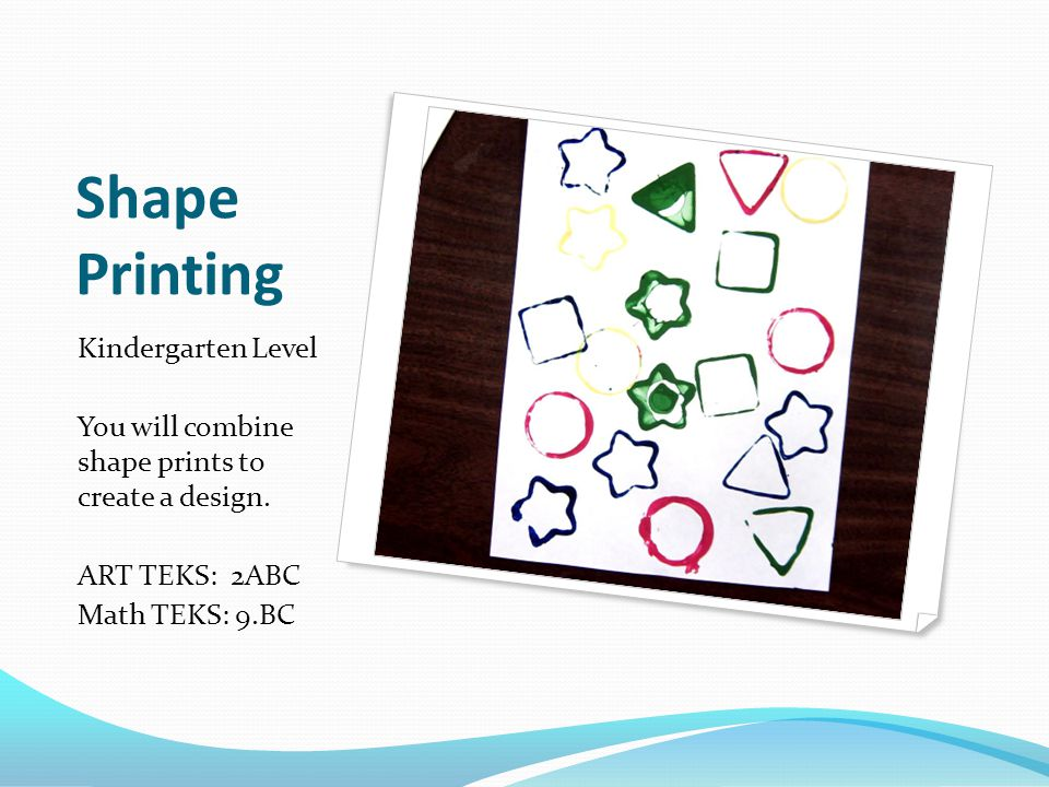 Shape Printing Kindergarten Level