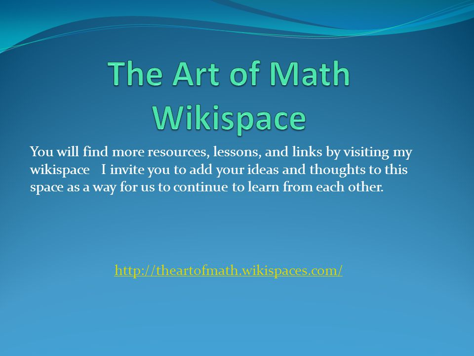 The Art of Math Wikispace