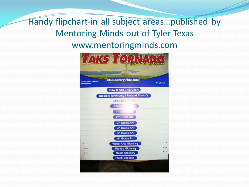 Handy flipchart-in all subject areas…published by Mentoring Minds out of Tyler Texas www.mentoringminds.com