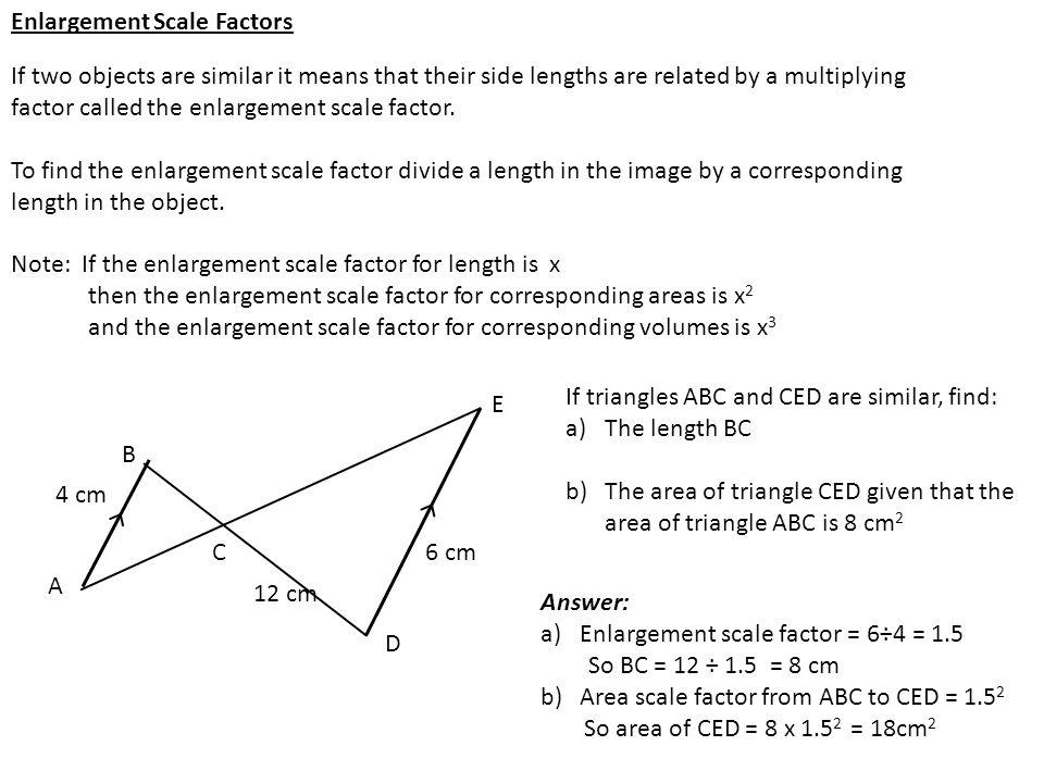 Enlargement Scale Factors