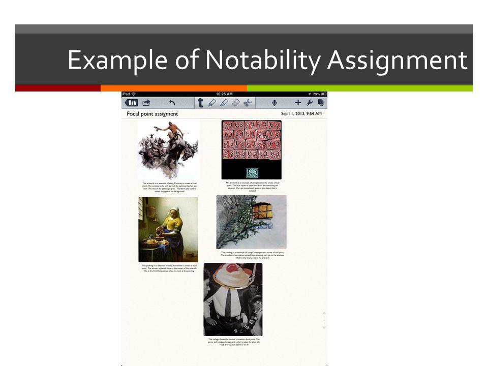 Example of Notability Assignment