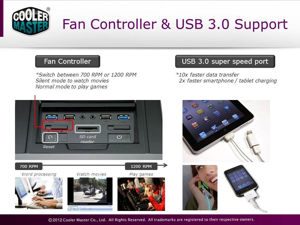 Fan Controller & USB 3.0 Support