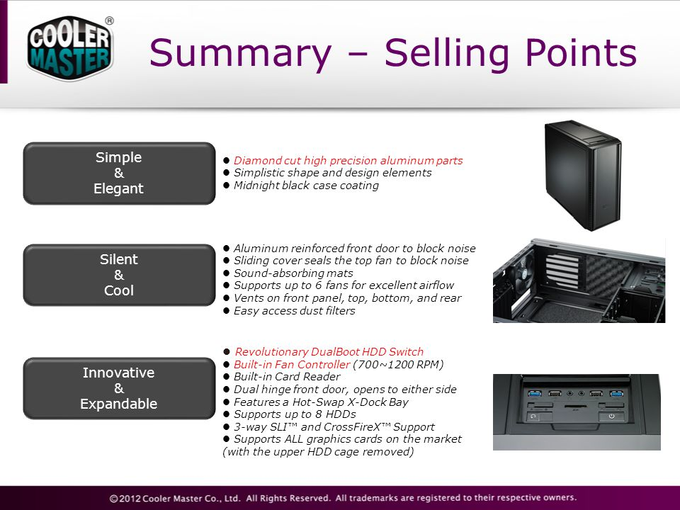 Summary – Selling Points