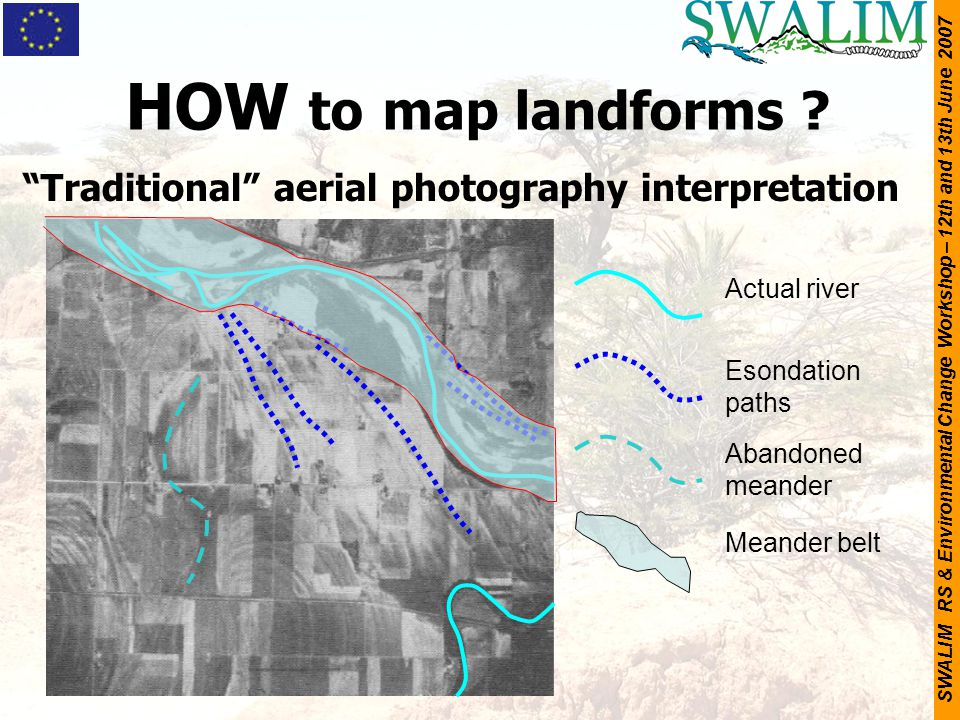 HOW to map landforms Traditional aerial photography interpretation