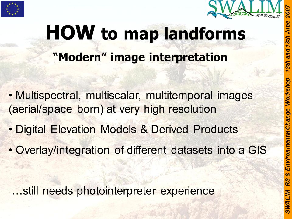 HOW to map landforms Modern image interpretation