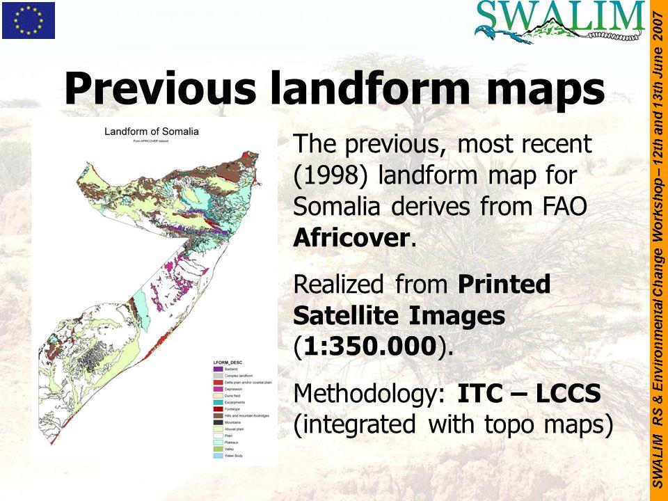 Previous landform maps