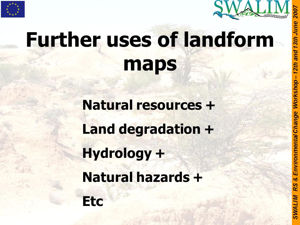 Further uses of landform maps