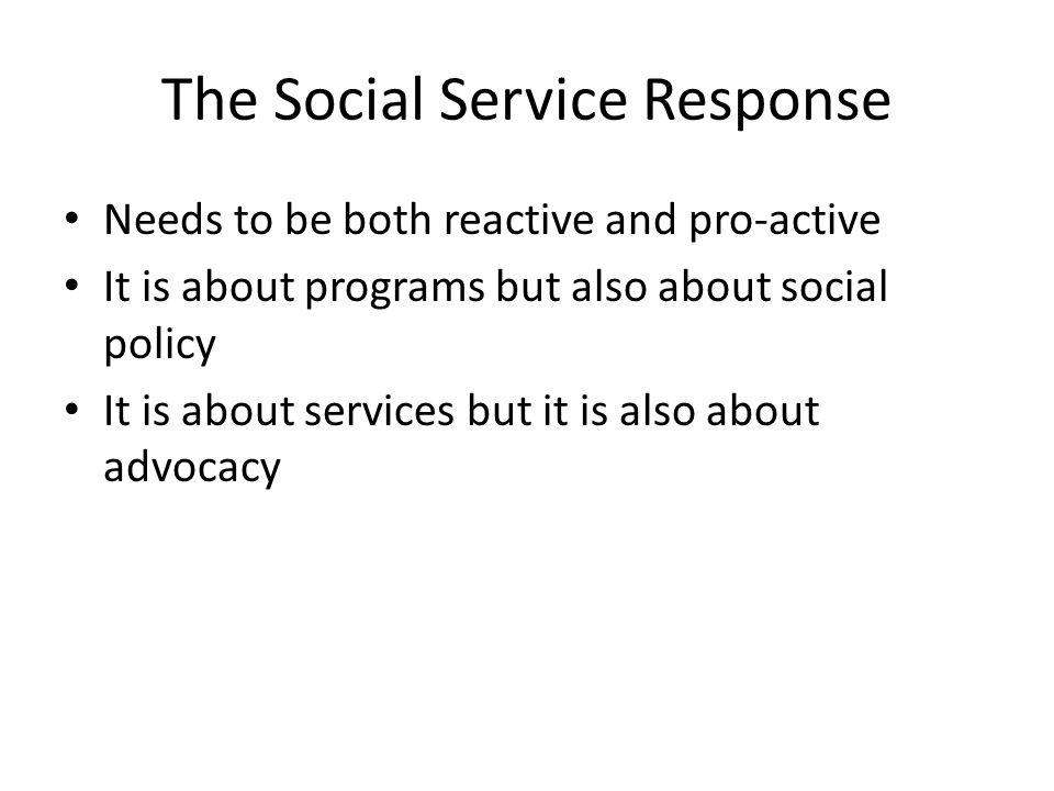 The Social Service Response
