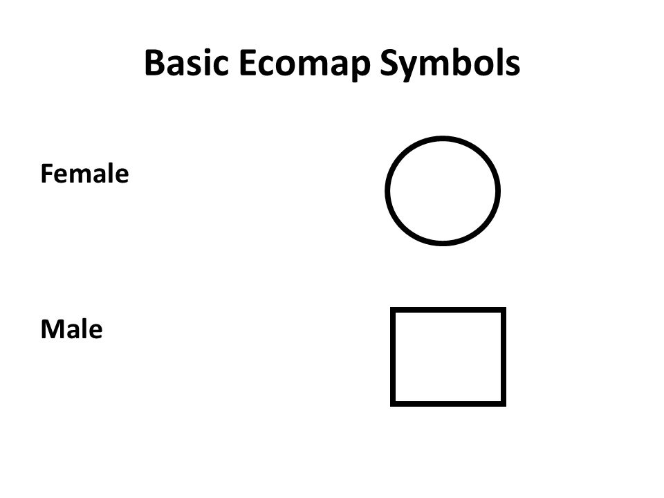 Basic Ecomap Symbols Female Male